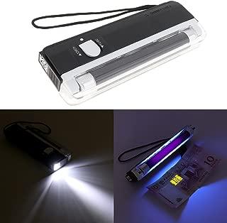 【Merry Christmas】 Portable Handheld UV Black Light Torch, Blacklight UV Light Money Bill Detector Currency Banknote Checker Cash