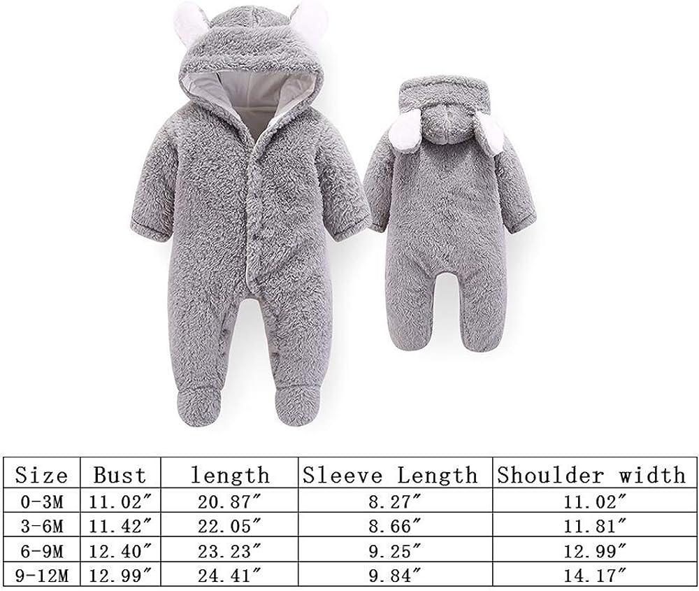 Jueshanzj Unisex Baby Schneeanzug Neugeborene S/äugling Overall Cartoon Niedlich Winter Mantel
