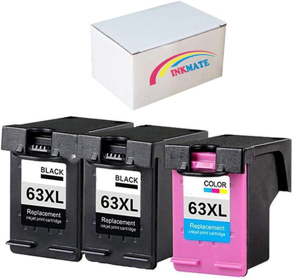 売買 INKMATE 最新アイテム Replacement Ink Cartridges for with Desk 63XL Compatible