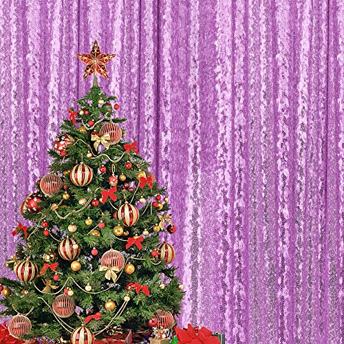 4×7FT Laender SequinBackdrop Curtains Panel, Photography Backdrop Glitter Fabric Background for Wedding Party Decor