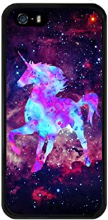 Case for iPhone 5s 5 SE Galaxy Unicorn,ChyFS Phone Case ,PC and TPU Black protective Case