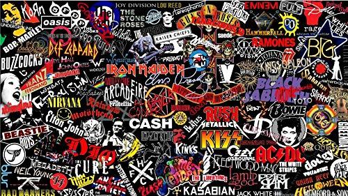 mmhhxx Rock Band Logo 1 Puzzle Adult Adult Puzzle 1000 Piezas Rock Band Logo 1 Puzzle Adult Adult Puzzle 75x50cm -999