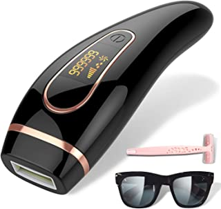 Depiladora Luz pulsada IPL, Dispositivo de depilación permanente sin dolor 999,999 flashes faciales de cuerpo entero en el hogar para mujeres hombres