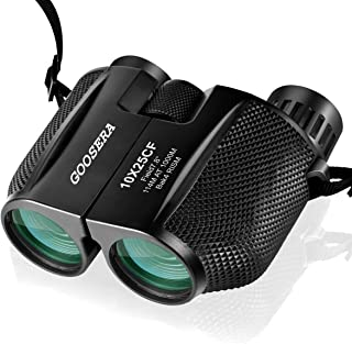 GOOSERA 双眼鏡 10倍×25 Bak4 IPX6防水(ブラック)