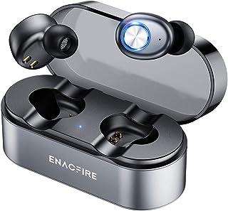 【初心者最適 完全ワイヤレスイヤホン 物理ボタン QI充電対応 片耳超長8時間連続使用 APTX対応】ENACFIRE ワイヤレスイヤホン 高音質 小型 重低音 軽量 Bluetooth5.0 対応 CVC8.0 ノイズキャンセリング IPX7...