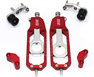 Motorcycle Chain Tensioner Adjuster with Spool (for YAMAHA YZF R1 2015-2016, Red)
