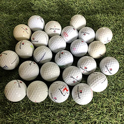 Easy Lakeballs 50 Wilson DX2 Soft Pelotas DE Golf RECUPERADAS/Lake Balls - Calidad AAA/AA (A/B Grade) - EN Bolsa DE Red