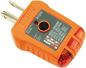 Klein Tools RT210 GFCI Receptacle Tester for North American AC Electrical Outlet Receptacles