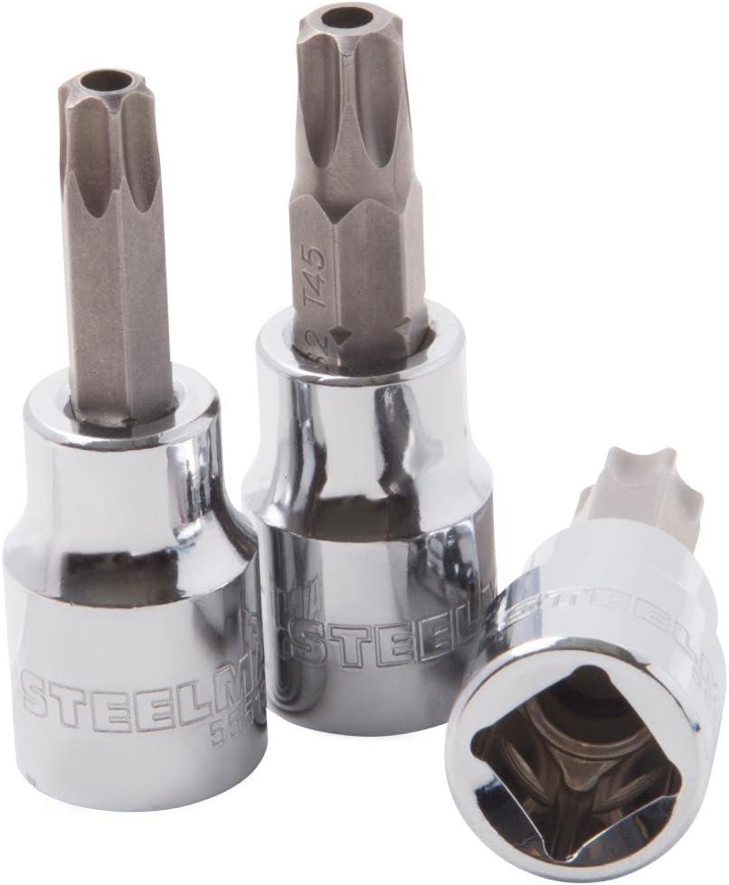Steelman 55497 8-Piece 1//4-Inch and 3//8-Inch Drive Star Bit Socket Set
