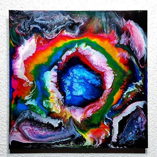 ORIGINAL Gemälde Abstrakte Malerei Kunst Resin Bild Modern Art Unikat HANDGEMALT - hochglanz Wandbilder direkt vom Künstler F.H. - Wohnung Deko Wohnzimmer - Werksnummer: Re 057