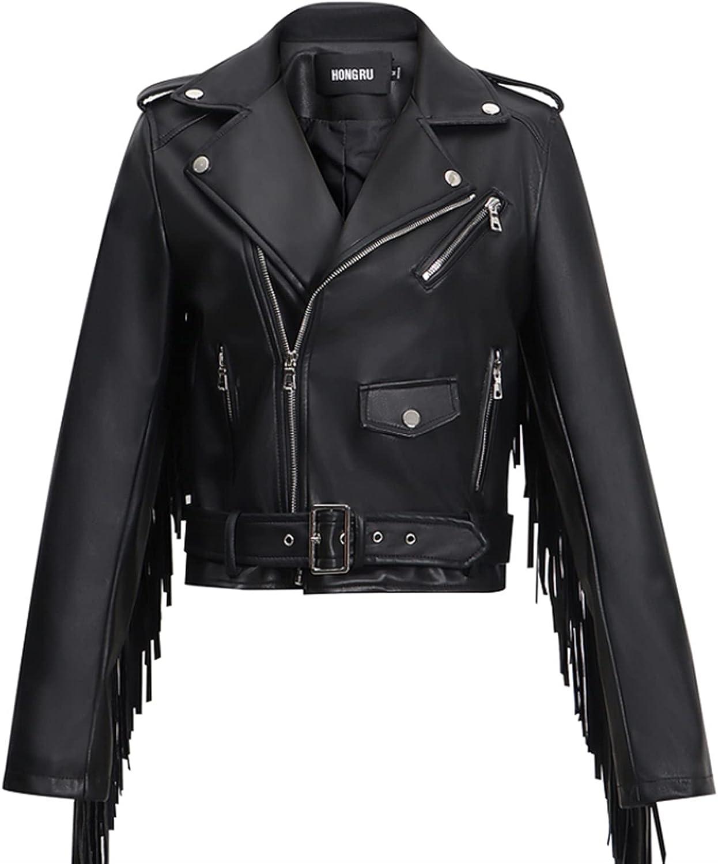 Autumn Leather Fringed Jacket Women's Tassel New product! New type New life C PU Spring