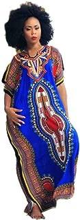 Women Dress, African Print Dress Loose Dress Plus Size Short Sleeve Skirt