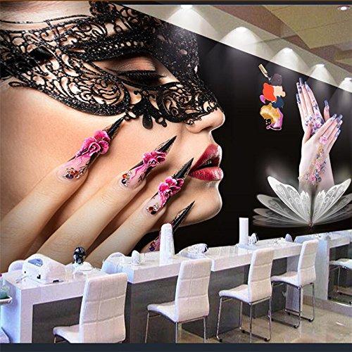Lqwx Mural fotográfico en 3d papel tapiz de fondo de utillaje de Manicura Peluquería pintura decorativa de pared 3d murales de papel tapiz-120cmX100cm