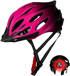 Azul Einsgut Casco de Bicicleta Hombres y Mujeres EPS Cuerpo Carcasa de PC integrada Forma Casco de MTB con Casco de Bicicleta de 20 Agujeros