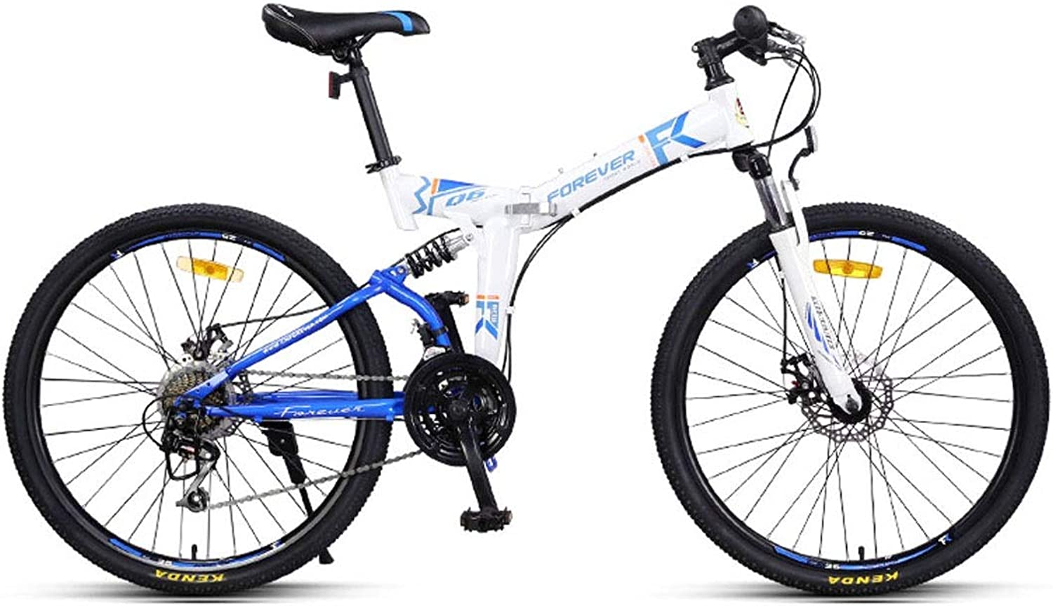 Bike, Mountain CrossCountry Bike, 24speed24 26 Inch, Adult Foldable Double ShockAbsorbing Soft Tail Racing