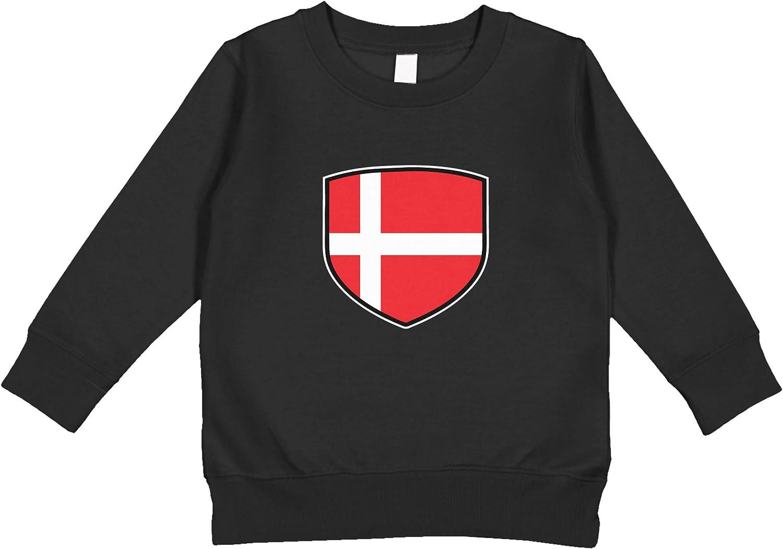 Amdesco Denmark Shield Danish Flag Toddler Sweatshirt