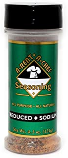 All Purpose Reduced Sodium Seasoning - Gluten Free - Sugar Free - A-Rent-A-Chef All Natural - 4.3 oz - USA Made - Proudly ...