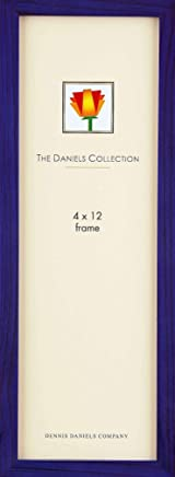 Dennis Daniels Gallery Woods Panoramic Picture Frame, 4 x 12 Inches, Blue Finish