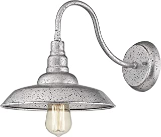 Bestshared Rustic Barn Light, Farmhouse Wall Light, Dome Shade Light in Galvanized Silver Finish
