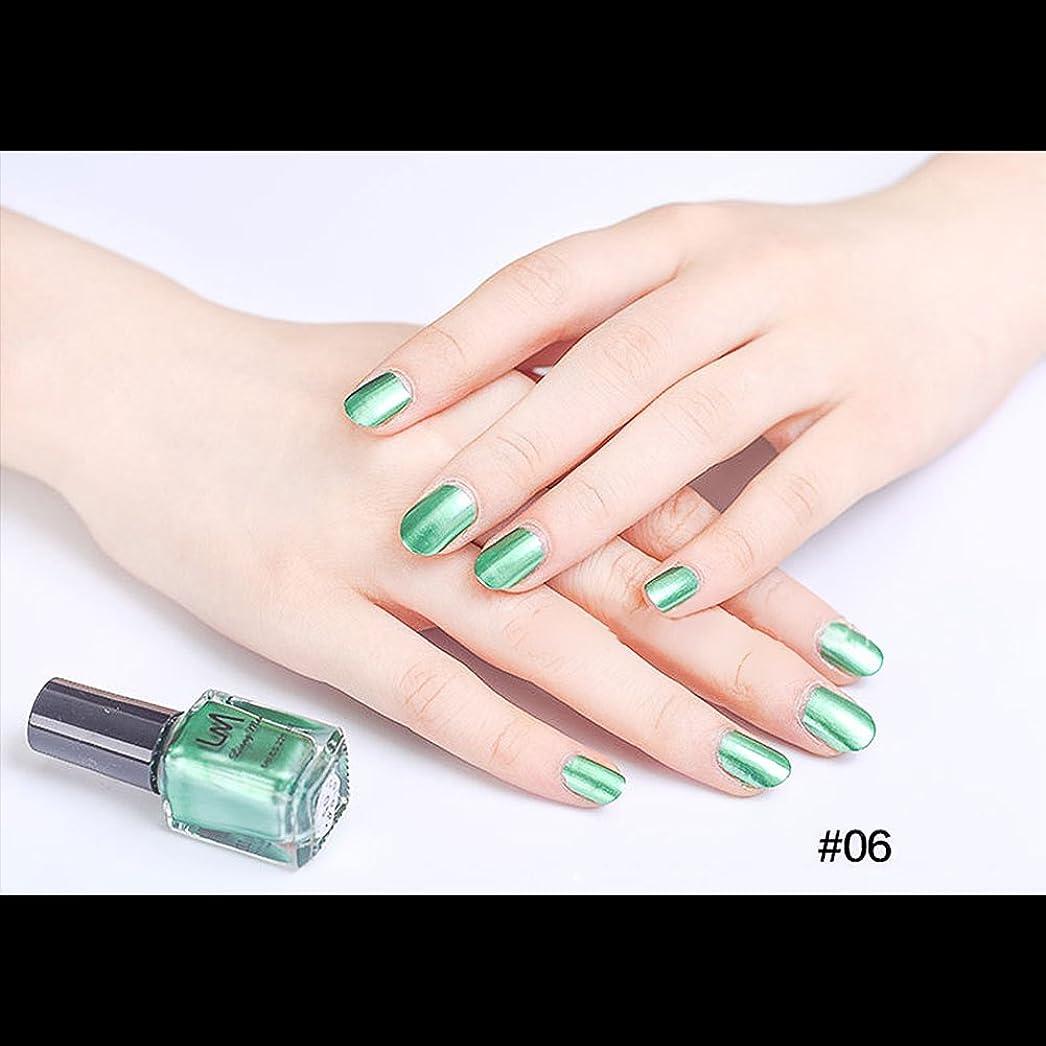 シリングソーセージクレアhjuns-Wu マニキュア パール感 1ボトル 6ml ネイルポリッシュ(緑)
