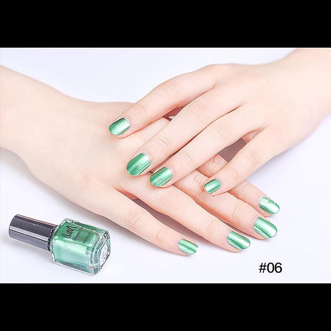 ラジカル理容師爆発hjuns-Wu マニキュア パール感 1ボトル 6ml ネイルポリッシュ(緑)