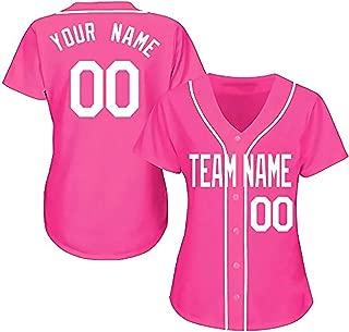 Showcool Custom Baseball Team Designated Player Game Jersey #3-#18 Pink