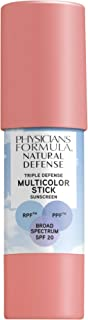 Physicians Formula Natural defense triple defense multicolor stick spf 20, Soft Pink, 0.26 Ounce
