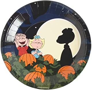 Peanuts Halloween Paper Plates Dinner Size 'Its the Great Pumpkin, Charlie Brown'