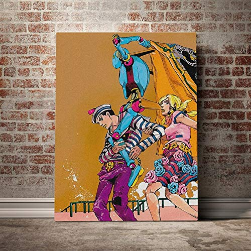 wopiaol Sin Marco Josuke Higashikata Yasuho Hirose JoJolion Cartel de Lienzo Pintura decoración de Arte de Pared Sala de Estar Dormitorio Estudio Decoración del hogar Impresiones