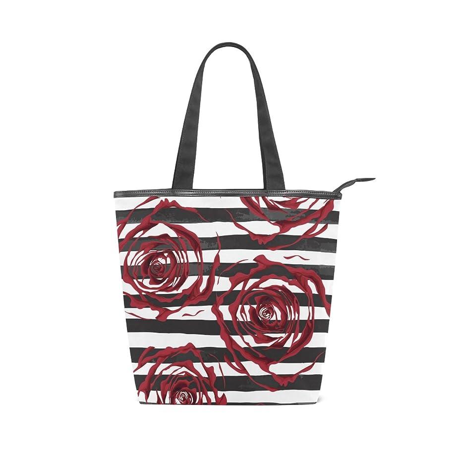 混合仕事に行く誰かキャンバス バッグ トートバッグ 多機能 多用途2wayバラ 赤色 薔薇 ショルダー バッグ ハンドバッグ レディース 人気 可愛い 帆布 カジュアル 多機能 両用トートバッグ ァスナー付き ポケット付 Natax