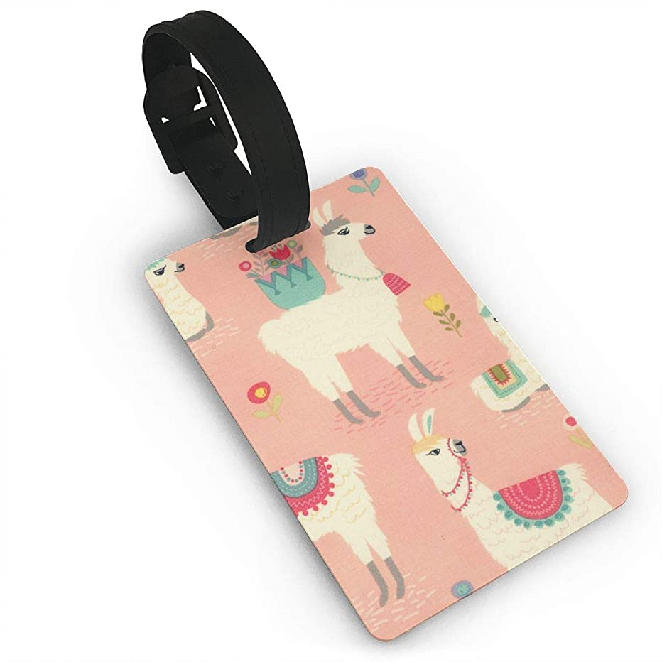 Hsdfnmnsv Premium Luggage Tags With Hand Strap Alpaca Grassland Luggage Tags With Print For Suitcases, Flexible PVC Travel ID Identification For Bags & Baggage