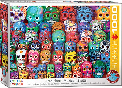 EuroGraphics Traditional Mexican Skulls 1000Piece Puzzle, 6000-5316
