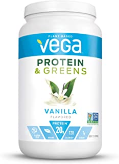 Vega Protein and Greens, Vanilla, Plant Based Protein Powder Plus Veggies - Vegan Protein Powder, Keto-Friendly, Vegetaria...