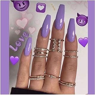 Best long purple acrylic nails Reviews
