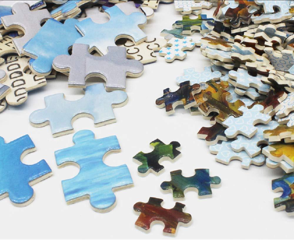 Rompecabezas de 1000 Piezas de Pintura Paisaje de Santorini Grecia para Adulto Niños Mini Puzzles de Cartón Regalo Juguete de Descompresión de Juego Intelectual de Mesa en Casa Decoración de la Pared: