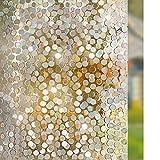 LMKJ Película de Ventana de Vidrio 3D Arco Iris Autoadhesivo Opaco privacidad Pegatina electrostática Pegatina de Vinilo para Ventana decoración del hogar película A79 60x200cm