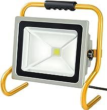 Brennenstuhl 百能斯图 移动芯片 LED 灯/LED 聚光灯 内外 外部聚光灯 50 W 聚光灯 IP65 LED 泛光灯日光 颜色 银色/黄色