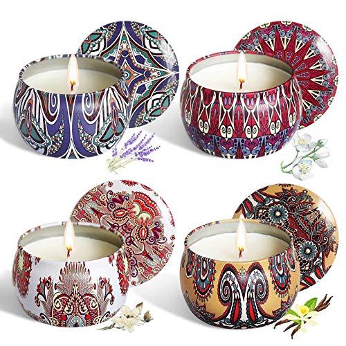 Juego de 4 velas perfumadas Juego de regalo, Velas de aromaterapia, regalo exquisito para el hogar y la mujer, para el día de San Valentín, día del padre, día de la madre