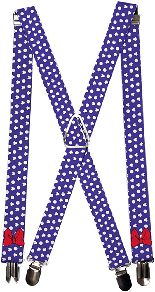 Buckle-Down Men's Suspender-Minnie Mouse, 3.5