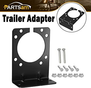 Partsam 1 Pc Right Angle Mounting Bracket Towing Wiring for 7-Way Trailer Connector and 7 RV Blade and 6 Pole Round Vehicle End Socket