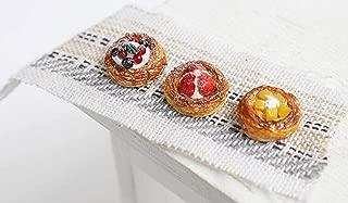 3 PCS 1/12 Dollhouse Miniature Clay Food Play Mini Danish Pastry Model DIY Doll House Accessories