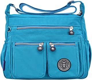 Wultia - Bags for Women 2019 Women's Fashion Solid Color Water Repellent Nylon Shoulder Bag Crossbody Bag Bolsa Feminina Sky Blue