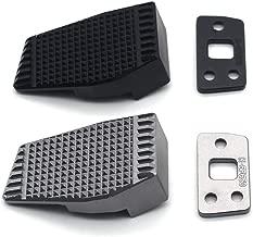 Black Leva del freno Peg Pad Extension Extension Extender per Benelli Leoncino 500 BJ500