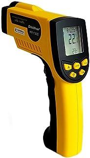 HoldPeak HP 1300 Infrarot Thermometer 16:1,  50 1300°C, einstellbare Emissivität Pyrometer Laser gelb/grau