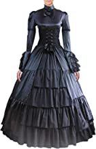 Partiss Women Bowknot Stand Collar Gothic Victorian Dress Costumes