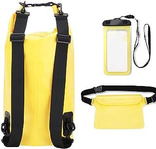 comprar comparacion Comius Sharp Bolsa Seca Impermeable a Prueba de Polvo 20L con Funda para teléfono y Bolso de Cintura, Equipo de Viaje para...