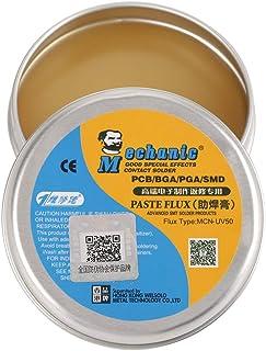 Akozon Paste Flux, MCN-UV50 Paste Flux Soldering Tin Flux Electric Soldering Iron Flux for PCB/BGA/PGA/SMD