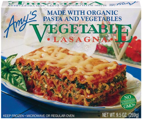Amy's Vegetable Lasagna, Organic, 9.5-Ounce Boxes...