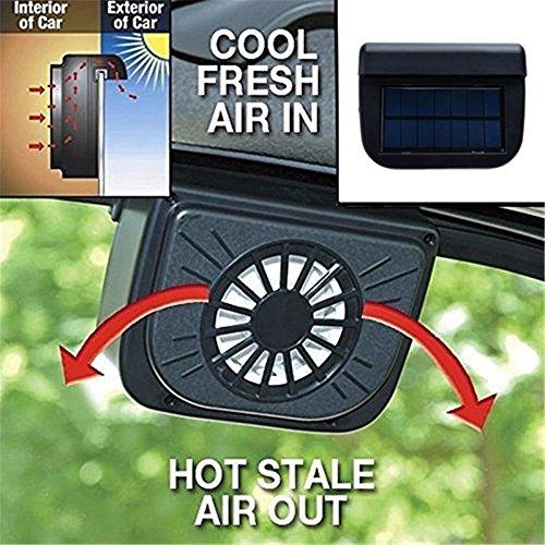 Zooarts Solarbetriebener Autofenster-Ventilator, Kühlung für Haustiere, Kfz, Fahrzeuge, Vans
