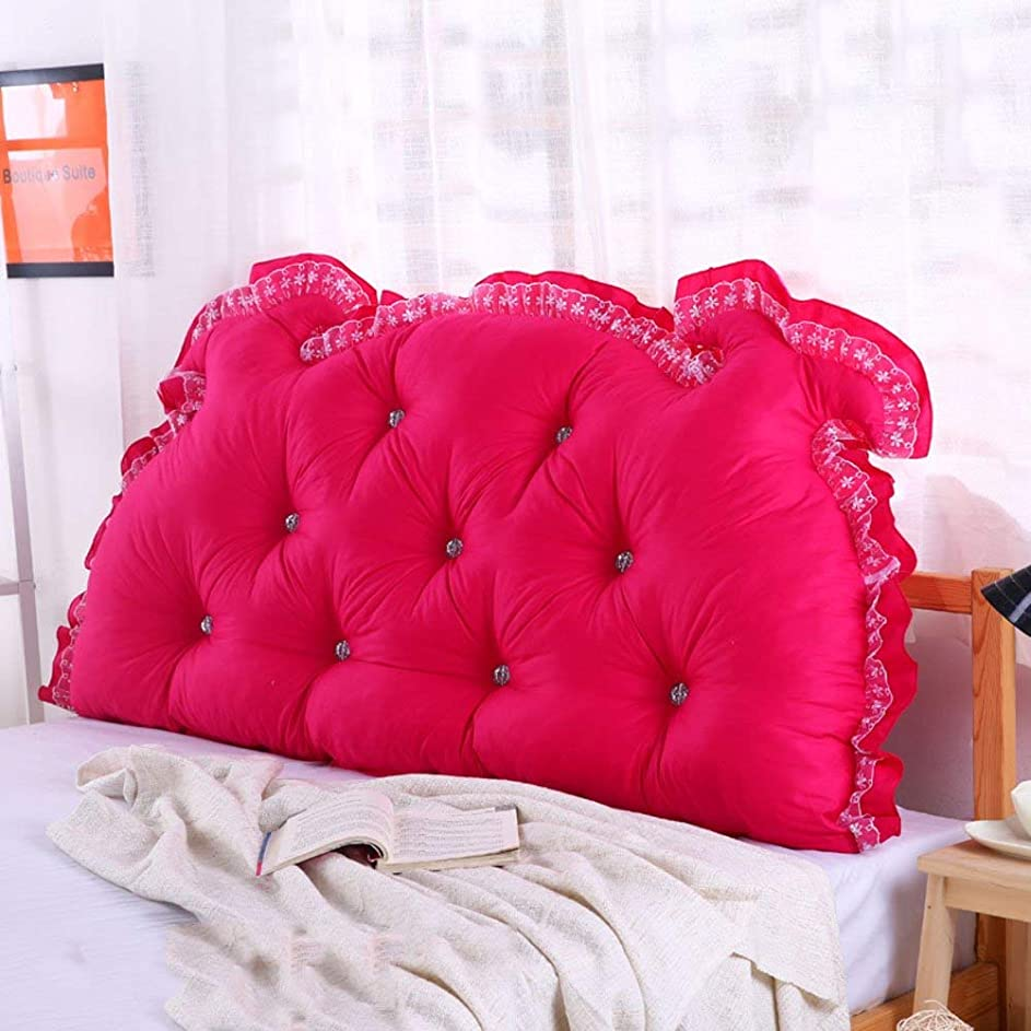 ありそうはっきりとアンタゴニストNanwu ベッドサイドの読書枕背部クッション、ソファーマットクッション100%綿背もたれ位置決めサポート枕 (Color : L, サイズ : 110x70x15cm(43x28x6inch))